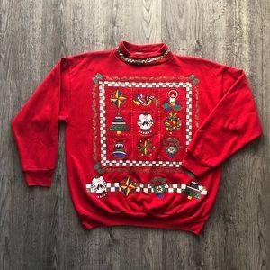 Nut Cracker Ugly Tacky Christmas Red Sweatshirt